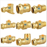 Brass press fittings