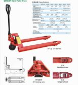 RED HYDRAULIC PALLET TRUCK