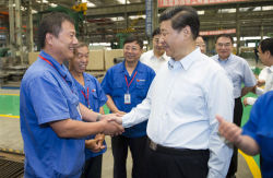 Chairman visiting our factory