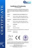 CE certificate of hot air oven