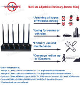 x6adj 6bands mobile phone signal jammer