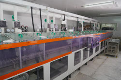 Touch screen production process of ITO clean machine