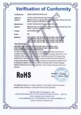 LED DOWNLIGHT ROHS certificate of conformity