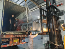 6 sets conical screw extruder machine loading at ACERETECH shipping to Turkey