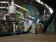 sawdust rice husk pellet production line in Viet Nam
