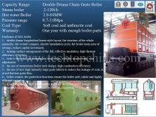 Horizontal Double Drum Chain Grate Boiler