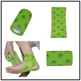 Dog footmark Printed cohesive bandage