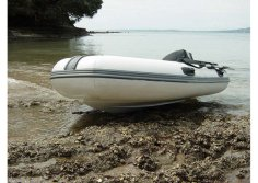 Aqualand 10feet 3m rigid inflatable fishing boat/rib motor boat