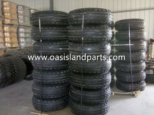 Tire with wheel assembly packing
