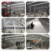 Steel structure frame platform for subway station in Xiamen