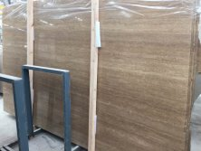 Stable Quality Travertine Noche Slabs with Straingt Vein