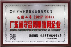 Guangdong province abide by the contract and credit enterprise