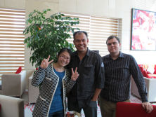 Manager with Australia customers