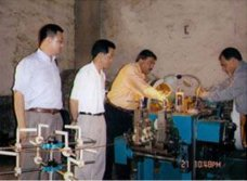 The Rajesh Rivet company was inspecting bi-metal rivet machine in our factory