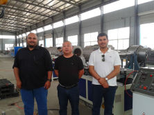 Saudi Arabia Project-Single Wall Corrugated Pipe Production Line