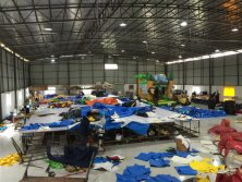 Inflatable new production line