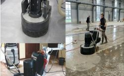 "Concrete grinding, clients use our 5"", 7"", 10"" grinding heads."