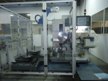 Saw blade production machinery.--Vollmer Germany.