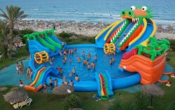 Gaint inflatable Water Park with swimming pool and slide for sale