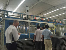 Customer visting Factory
