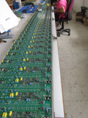 cuircuit board on production line