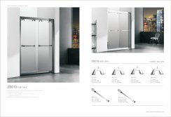 DOUBLE SLIDING DOOR WITH C-SHAPED HANGING CLAMP SERIES