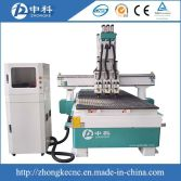three heads pneumatic changing cutters cnc router