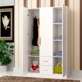 Wholesale Cheap Design Modern Melamine Wooden Bedroom Wardrobe