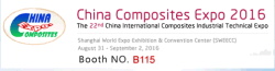 China Composites Expo 2016 (Booth No.:B115)