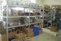 Parts of The Machines in The Stock Room
