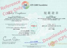 ICTI ( International Council of Toy Industties) Certificate