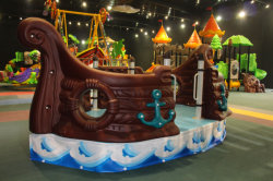 Pirate ship in show room