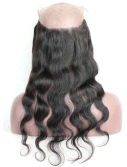 360 Lace Frontal Wig with Babies Hair, Natural Color Natural Wavy