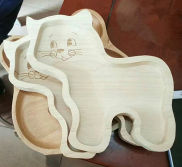 NEW ARRIVAL--CAT SHAPE WOOD DISH