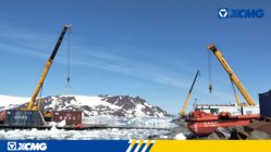 XCMG crane applied to the construction of Brazilian Antarctic research station