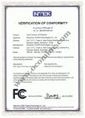 POS Monitor FCC Certificate