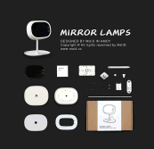 2017 Desktop foldable makeup mirror with LED lights and touch sensor Travel Makeup Mirror