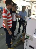 Soldering machine customer visiting