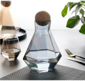 diamond glass carafe