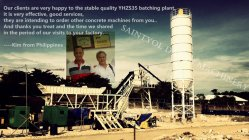 YHZS35 mobile batching plant client feedback