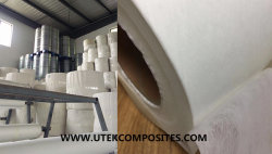PET non-woven for pipe winding process