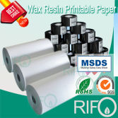 traditional printable label material resin wax printable synthetic paper