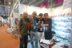 The client from Chile come to visit us in Canton Fair