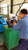 client take photo for kangmai hose crimping machine