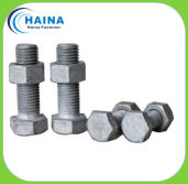 HDG hex bolt and nut