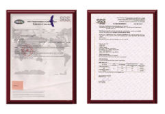 Certificate of SGS
