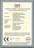 CE certificate of SPE-3000S series.