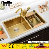Golden style of sink