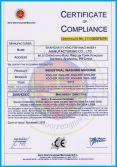 CE certificate of washer extractor
