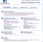 D&B D-U-N-S Registered Factory